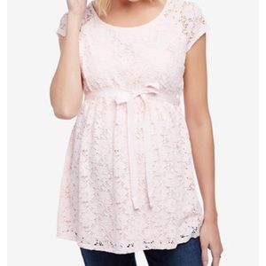 Pink Lace Top NWOT